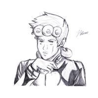Giorno giovanna sketch by TheAmazingotter