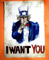 Uncle Sam in my room by elicenia