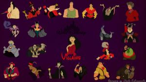 Disney Villains Wallpaper by panda-ai