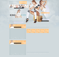 Premade design with Gigi Hadid by JacqueBiebs