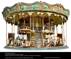 Carousel Paris by CindysArt-Stock