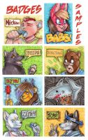 :: ACEO marker badges :: by IvyBeth