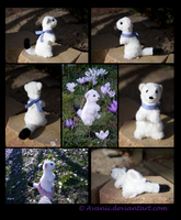 SOLD Plushie: Finnian the Ermine by Avanii