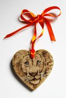 Pyrography Lion Wish Wall Hanging by BumbleBeeFairy