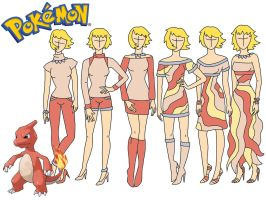 Pokemon fashion: Charmeleon by Willemijn1991