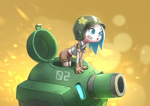 Tank girl by Delun