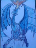 Blue Dragon by lustyvampire