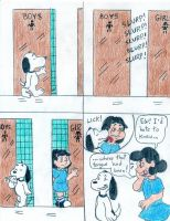 Snoopy and Lucy by Jose-Ramiro