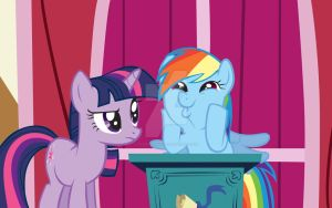 Rainbow dash and twilight sparkle by toocute4yall