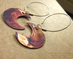 Harvest Moon Earrings by indyspireArt
