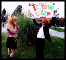 Fairy Tail Love - Lucy and Leo - by Thara-Wood