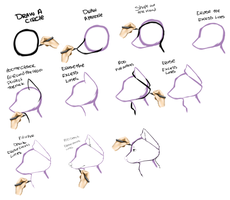 2nd Tutorial: How To Draw A Generic Canine Face - by Chiorro