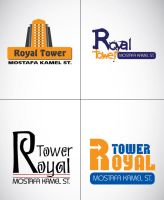 royal tower LOGO 3 by ReemElhwtk