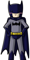 Batman Chibi xP by wondering-souls