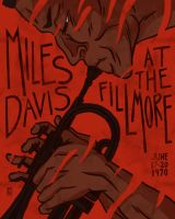 Miles Davis at the Fillmore by tedikuma