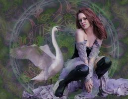 Leda and the Swan by FractalBee