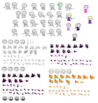 Rose Sprite Sheet by blahjerry