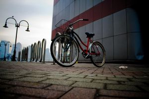 red bike by SUNphotography