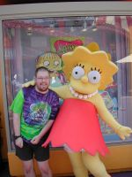 Me with Lisa Simpsons by MightyMorphinPower4
