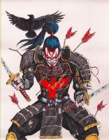 Samurai Crow by coyote117