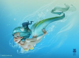 Mermaid by DawnElaineDarkwood