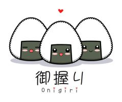 Kawaii Onigiri by The-8th-Sin