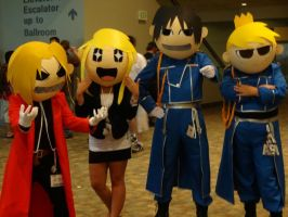 Full Metal Alchemist Group Chibi Cosplay by GamerZone18