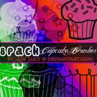 8 Pack cupcake brushes by LW-Lucy