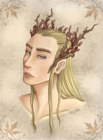 Thranduil, King of the woodland realm by Winter-moon-laidy