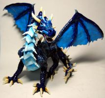 Azure Breasted Armored Dragon by Arilou