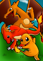 Charmander Evolutions Color by Quantum-Art