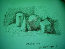 basic shapes pointillism by gilbert86II
