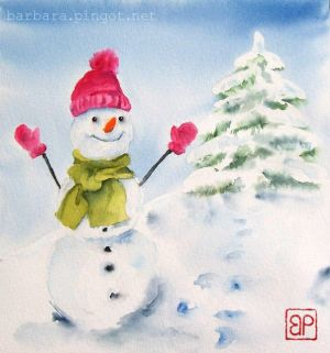 Happy Snowman by stokrotas