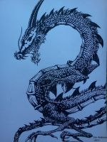Ink Dragon by AVeganZombie