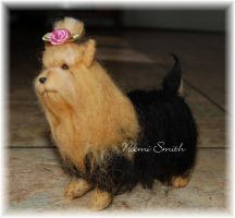 My First Needle Felted Dog by noe6