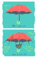 How I feel about umbrellas by pococoy