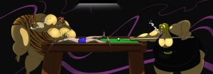 Alec's pool table torture by FatClubInc