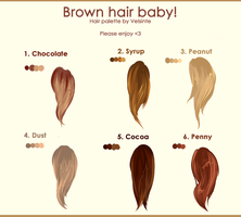 Brown hair. Hair palette ! by Velsinte