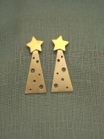 Silver + Brass Christmas trees by SongBird55