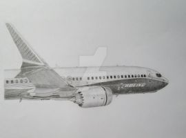 My Boeing 737 MAX Drawing by B737TheAirliner