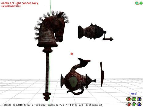 MMD Hysteria mode weapons by 0-0-Alice-0-0