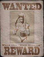 Evil bunny WANTED poster by feeesh