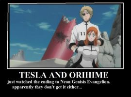 Tesla and Orihime by RayneWolfspeaker