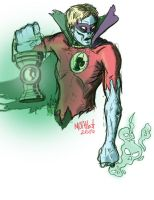 Zombie Green Lantern 2 by mothbot
