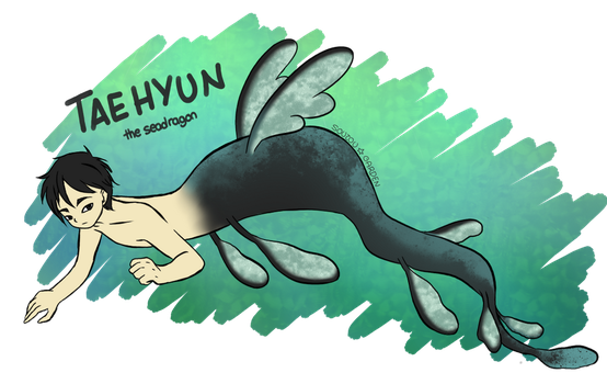 Swimming on the green (MerMay17, 23) by chibinevercry