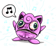 Wild JIGGLYPUFF appeared by Splapp-me-do