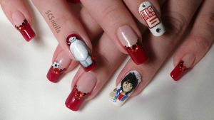big hero 6 inspired nail art by sugarcharmshop