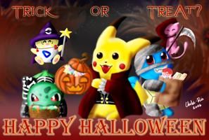 Halloween with POKEMON by Chibi-Rie