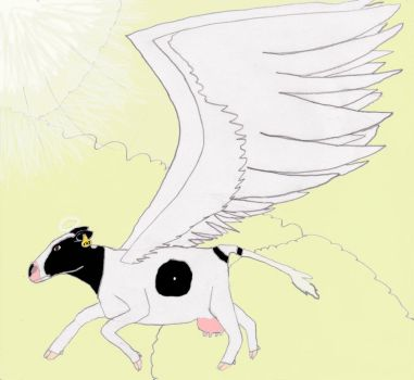 Cow Angel by BlossomWolf