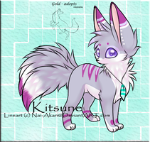 3 tailed Kitsune adopt-closed- by gold-adopts